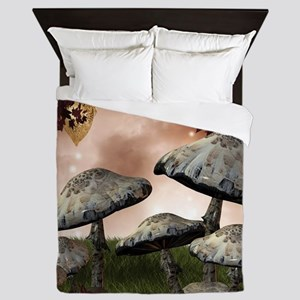 Autumn Mushrooms Queen Duvet
