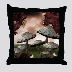 Autumn Mushrooms Throw Pillow
