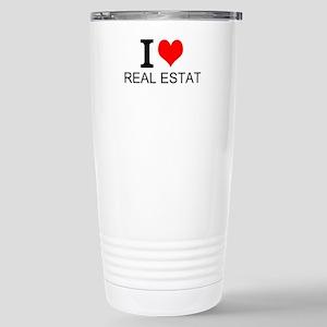 I Love Real Estate Travel Mug