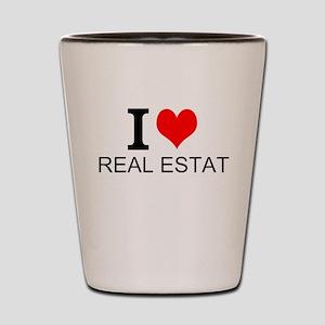 I Love Real Estate Shot Glass