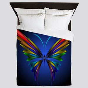 Abstract Butterfly Queen Duvet