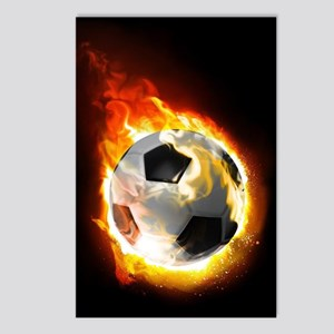 Soccer Fire Ball Postcards (Package of 8)