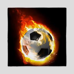 Soccer Fire Ball Queen Duvet