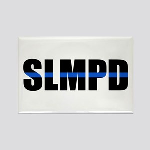 SLMPD Blue Line Rectangle Magnet