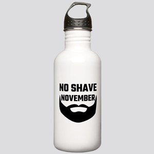 No Shave November Stainless Water Bottle 1.0L