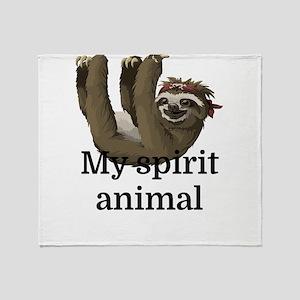My Spirit Animal Throw Blanket