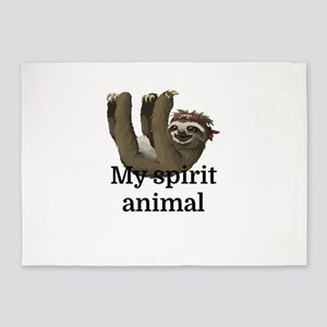 My Spirit Animal 5'x7'Area Rug
