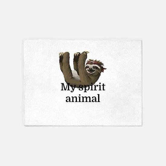 My Spirit Animal 5'x7'Area Rug