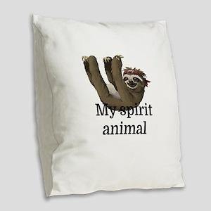 My Spirit Animal Burlap Throw Pillow