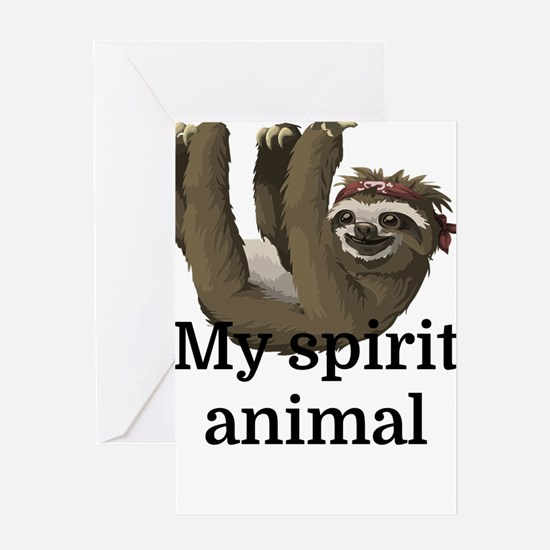 My Spirit Animal Greeting Cards