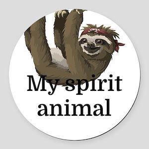 My Spirit Animal Round Car Magnet