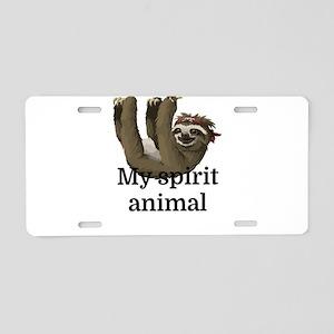 My Spirit Animal Aluminum License Plate