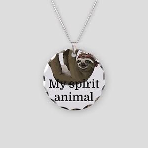 My Spirit Animal Necklace Circle Charm