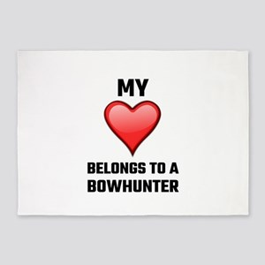 My Heart Belongs To A Bowhunter 5'x7'Area Rug