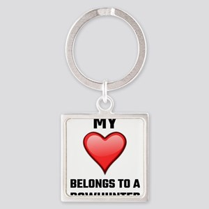 My Heart Belongs To A Bowhunter Keychains