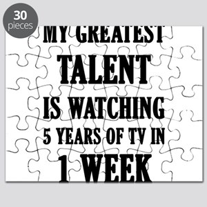 My Greatest Talent Is Watching 5 Years Of T Puzzle