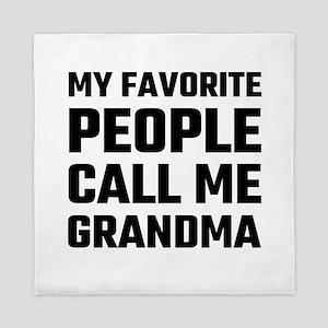 My Favorite People Call Me Grandma Queen Duvet