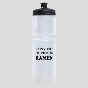 My Fav Type Of Men Is Ramen Sports Bottle