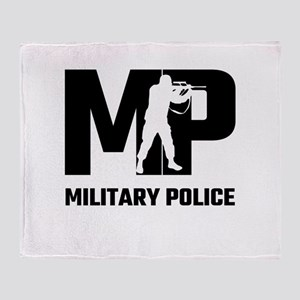 MP Military Police Throw Blanket