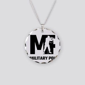 MP Military Police Necklace Circle Charm