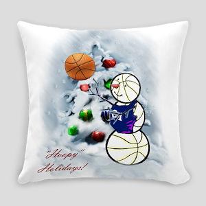 Basketball Snowman xmas Everyday Pillow