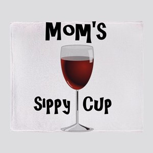 Mom's Sippy Cup Throw Blanket