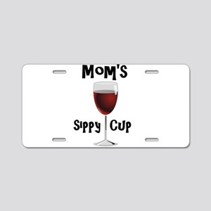 Mom's Sippy Cup Aluminum License Plate