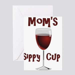 Mom's Sippy Cup Greeting Cards