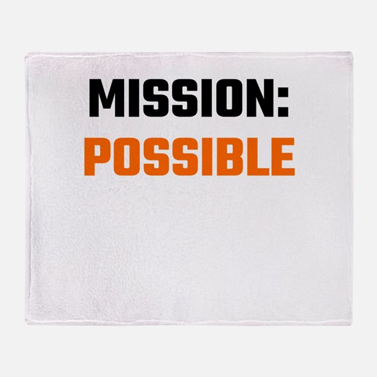 Mission: Possible Throw Blanket