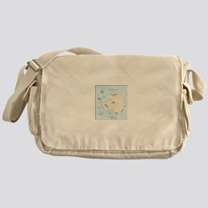 Antarctica Map Messenger Bag