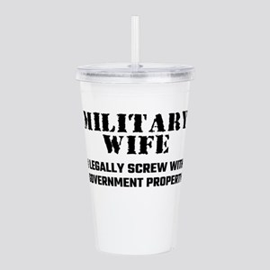 Military Wife Acrylic Double-wall Tumbler
