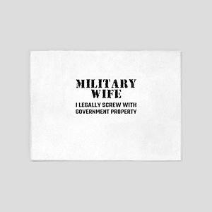 Military Wife 5'x7'Area Rug