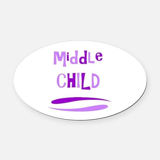 Middle Child Oval Car Magnet