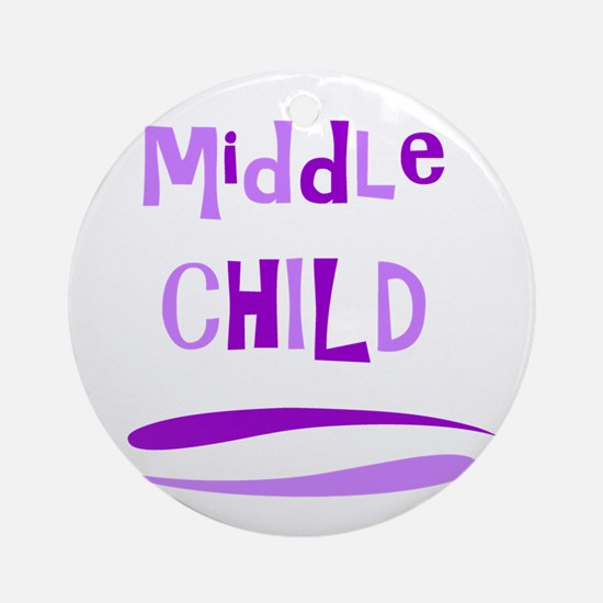 Middle Child Round Ornament