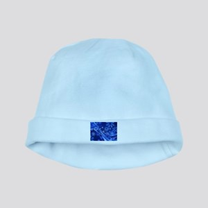 Blue Snowflakes Christmas baby hat