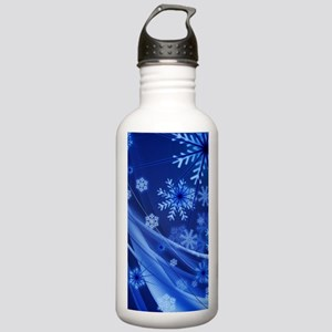 Blue Snowflakes Christ Stainless Water Bottle 1.0L