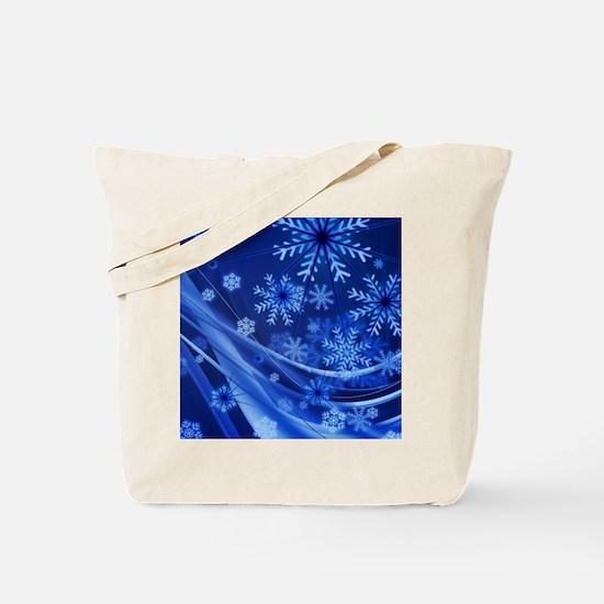 Blue Snowflakes Christmas Tote Bag