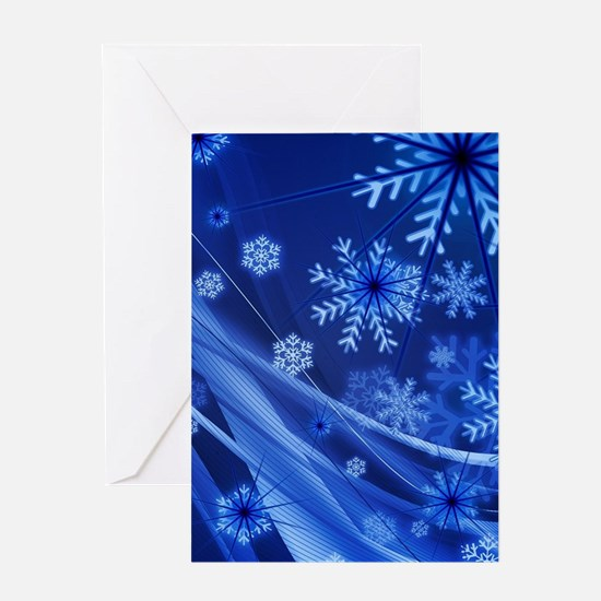 Blue Snowflakes Christmas Greeting Cards