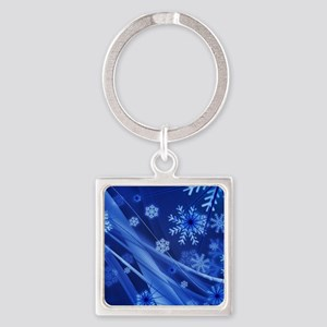 Blue Snowflakes Christmas Keychains