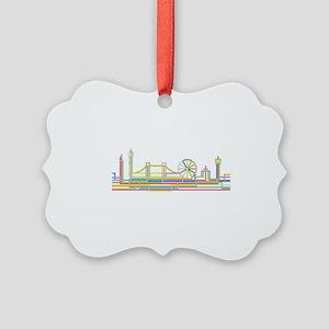 London Skyline Picture Ornament