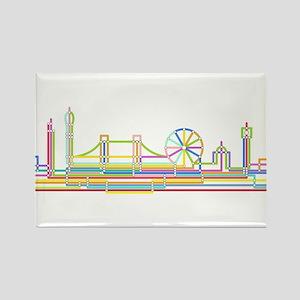 London Skyline Rectangle Magnet