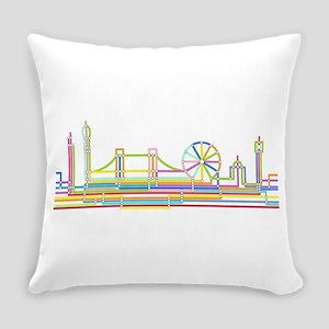 London Skyline Everyday Pillow