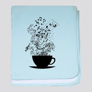 Cup of Music baby blanket