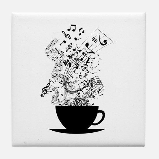 Cup of Music Tile Coaster