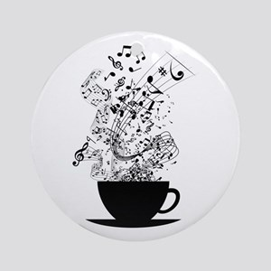 Cup of Music Round Ornament