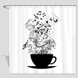 Cup of Music Shower Curtain