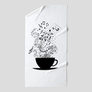 Cup of Music Beach Towel
