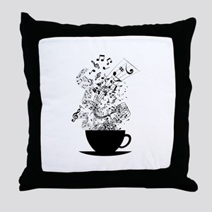 Cup of Music Throw Pillow