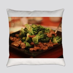 Chinese broccoli beef Everyday Pillow
