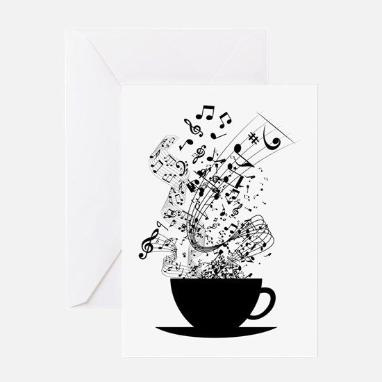 Cup of Music Greeting Cards